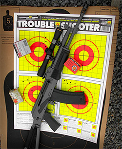 Thompson Trouble Shooter Bullseye Paper Targets with AK-47