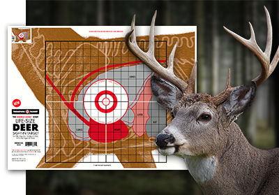 White Tail Deer Hunting Paper Target