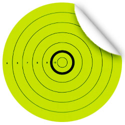 Adhesive Peel & Stick Bright Neon Targets